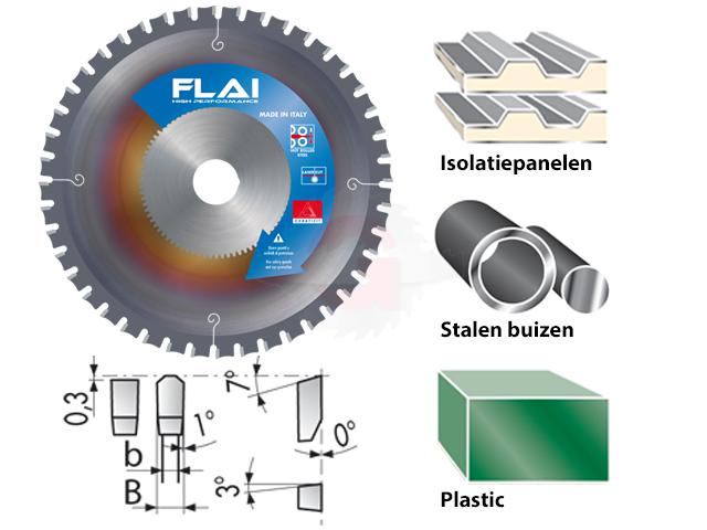 New Hardmetaal zaagblad ideaal voor het zagen van profielen en buizen NN41