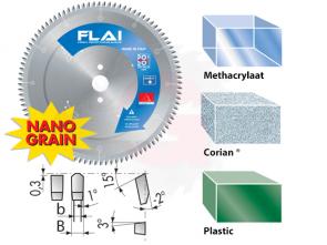 zaagblad voor corian kunststof plastic acrylaat methacrylaat